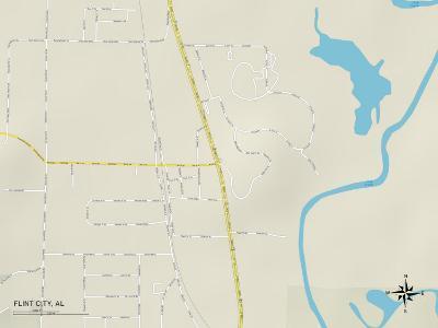 Political Map of Flint City, AL