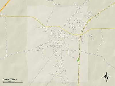 Political Map of Georgiana, AL