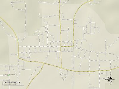 Political Map of Greensboro, AL