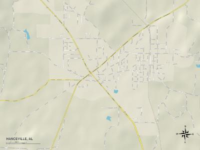Political Map of Hanceville, AL