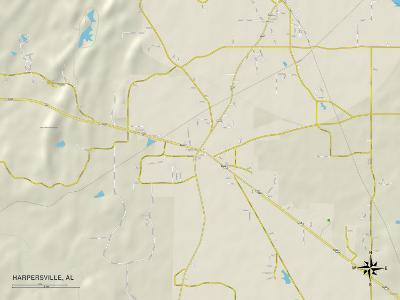 Political Map of Harpersville, AL