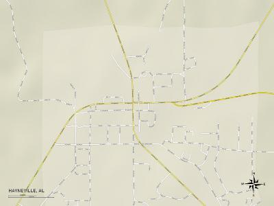 Political Map of Hayneville, AL