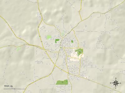 Political Map of Troy, AL