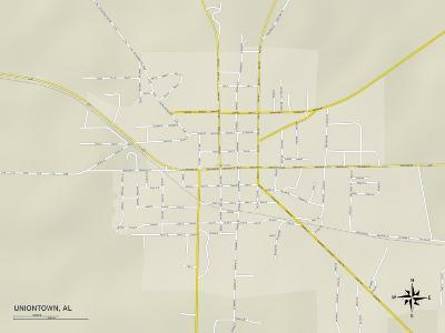 Political Map of Uniontown, AL