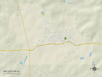 Political Map of West Blocton, AL