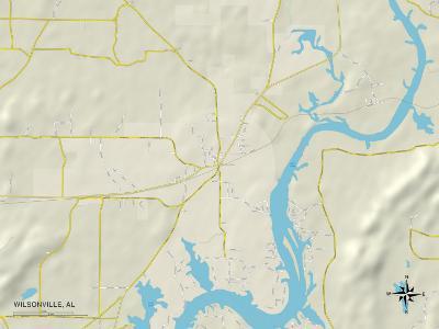 Political Map of Wilsonville, AL