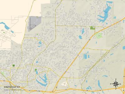 Political Map of Sherwood, AR