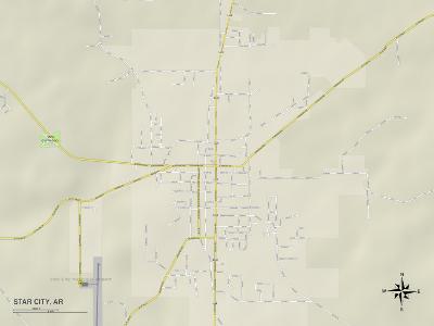 Political Map of Star City, AR