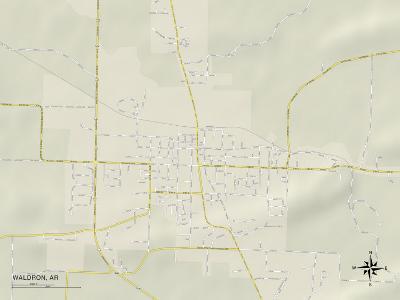 Political Map of Waldron, AR