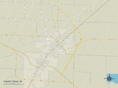 Political Map of Walnut Ridge, AR