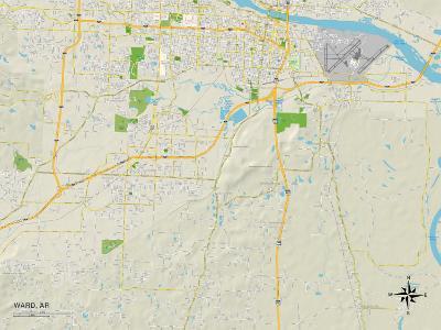 Political Map of Ward, AR