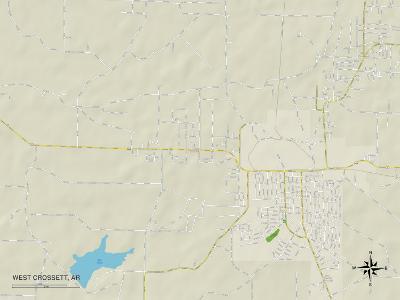 Political Map of West Crossett, AR