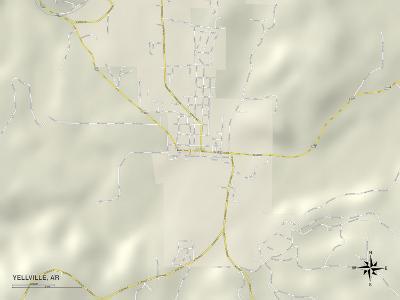 Political Map of Yellville, AR