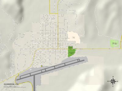 Political Map of Gunnison, CO