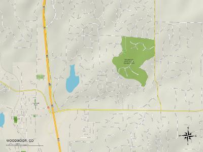 Political Map of Woodmoor, CO