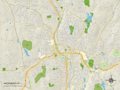 Political Map of Waterbury, CT