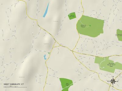 Political Map of West Simsbury, CT
