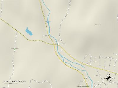 Political Map of West Torrington, CT