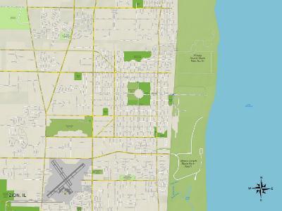 Political Map of Zion, IL