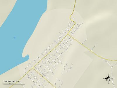 Political Map of Uniontown, KY