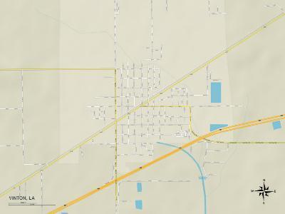 Political Map of Vinton, LA