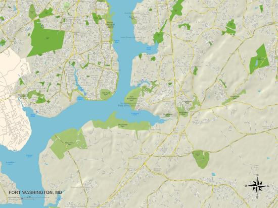 Fort Washington Map.Political Map Of Fort Washington Md Photo At Allposters Com