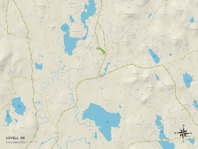 Political Map of Lovell, ME