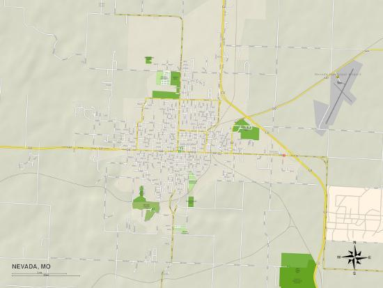 Political Map Of Nevada Mo Photo At Allposters Com