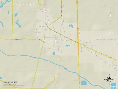Political Map of Shannon, MS