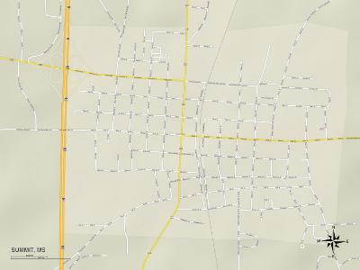 Political Map of Summit, MS