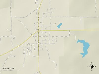 Political Map of Sumrall, MS