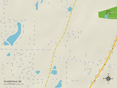 Political Map of Taylorsville, MS
