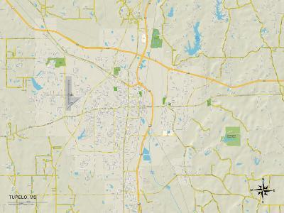 Political Map of Tupelo, MS