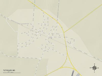 Political Map of Tutwiler, MS