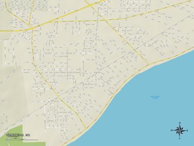 Political Map of Waveland, MS