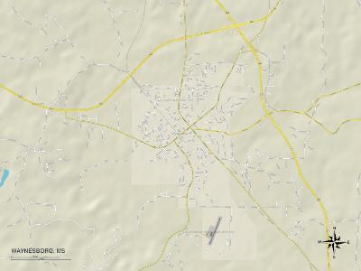 Political Map of Waynesboro, MS