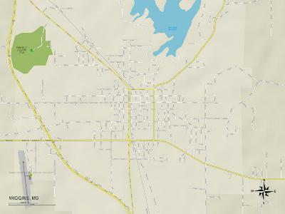 Political Map of Wiggins, MS