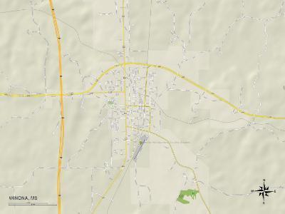 Political Map of Winona, MS