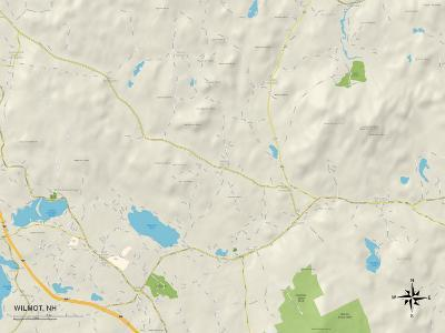 Political Map of Wilmot, NH