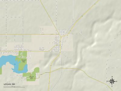 Political Map of Logan, NM
