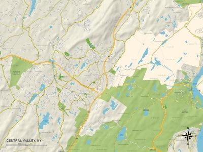 Political Map Of Central Valley Ny Photo At Allposterscom - Central-valley-on-us-map