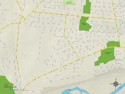 Political Map of Fairfax, OH