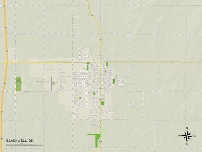Political Map of Blackwell, OK