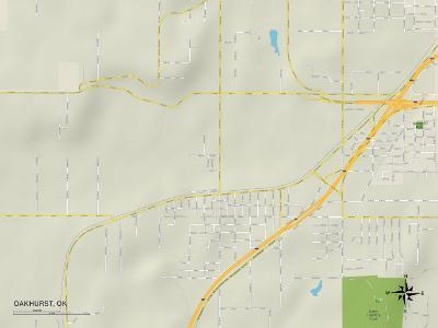 Political Map of Oakhurst, OK