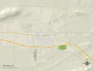 Political Map of Sallisaw, OK