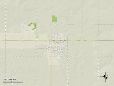 Political Map of Walters, OK