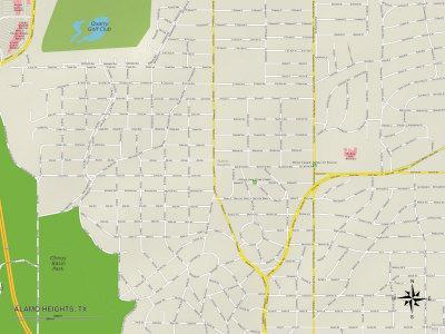 'Political Map of Alamo Heights, TX' Photo -   AllPosters.com