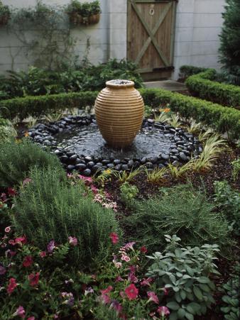 Decorative Urn in a Garden, Savannah, Chatham County, Georgia, USA