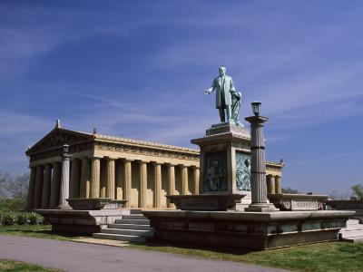 Statue in Front of an Art Museum, the Parthenon, Centennial Park, Nashville, Tennessee
