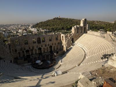 View of an Amphitheater, Odeon of Herodes Atticus, Acropolis, Athens, Attica, Greece